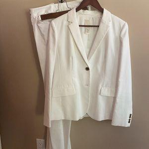 J Crew white twill blazer size 10